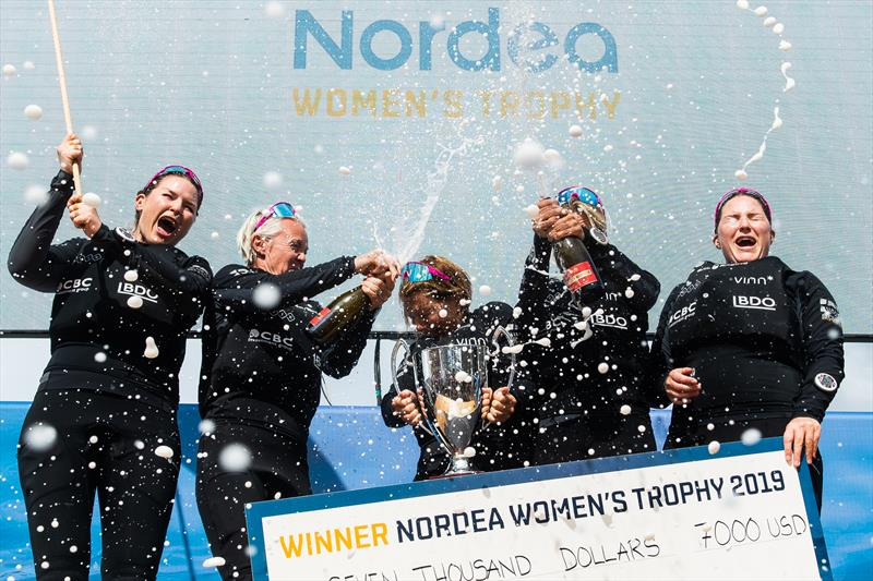 Anna Östling and her Team Wings - Marie Berg, Annika Carlunger, Annie Wennergren, Linnéa Wennegren defended their Womens World Match Racing title - photo © Mathias Bergeld/World Match Racing Tour