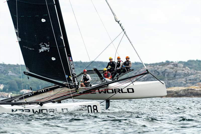 After Blikshem, stars of the show today were the Joachim Aschenbrenner-steered Knots Racing. - Day 2 - M32 European Series Marstrand 2019 - photo © Drew Malcolm