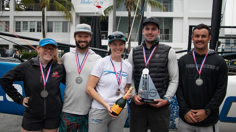 Jennifer Wilson and her Convergence crew finished second oveall - M32 North American Championship photo copyright Felipe Juncadella taken at  and featuring the M32 class