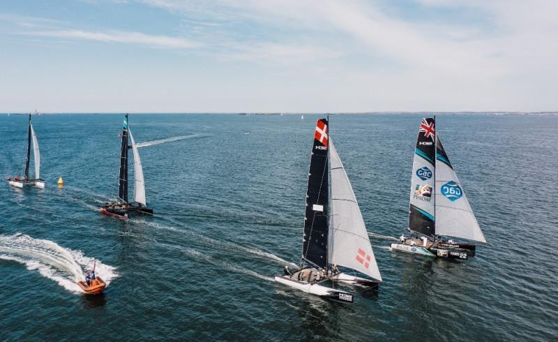 The European M32 fleet racing in Marstrand in August 2020. - photo © M32 World / Pao Duell