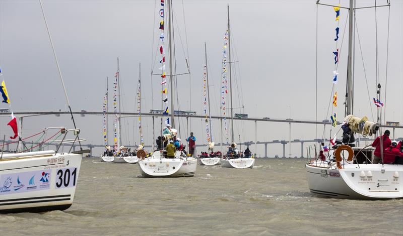 Parade of Sail. Macao Cup International & GBA Cup Regattas. - photo © Guy Nowell