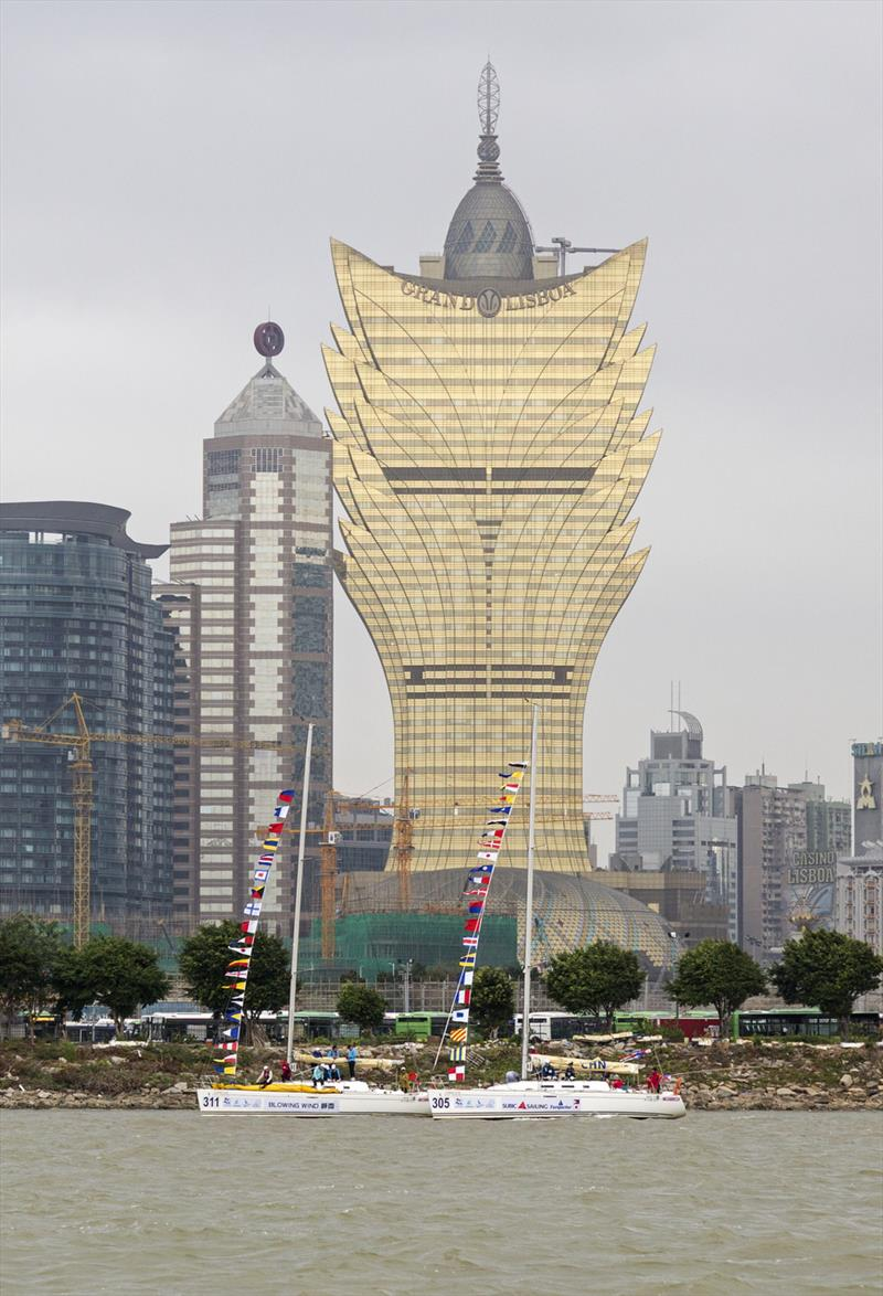 Parade of Sail, Grand Lisboa. Macao Cup International & GBA Cup Regattas. - photo © Guy Nowell