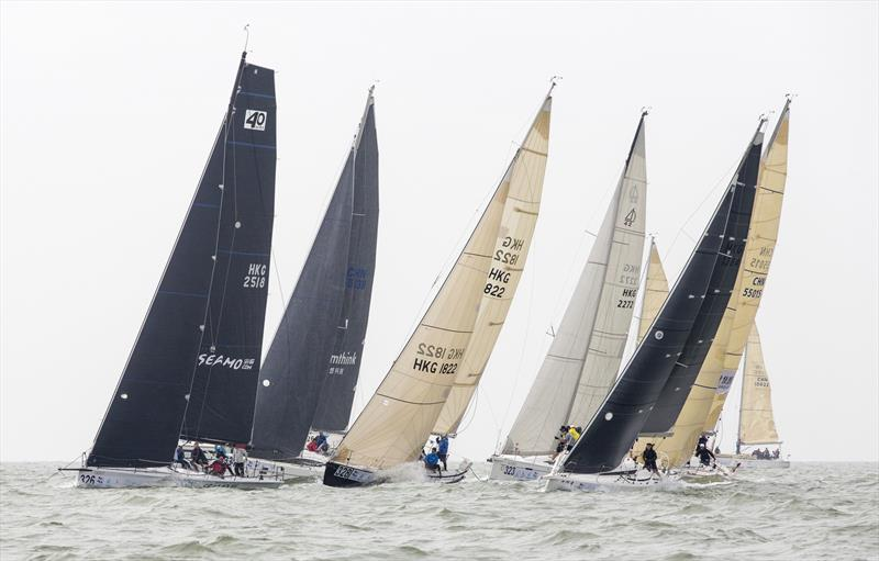 Formation start. 2020 Guangdong-Hong Kong-Macao Greater Bay Area Cup Regatta & Macao Cup International Regatta. - photo © Guy Nowell