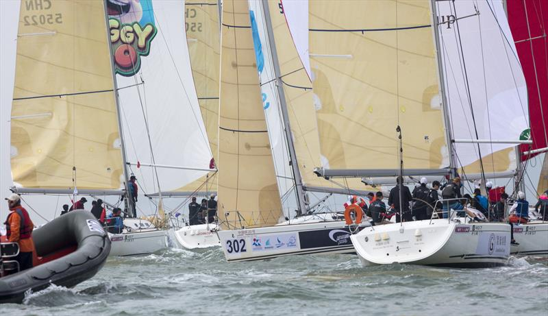 That's a lot of traffic! 2020 Guangdong-Hong Kong-Macao Greater Bay Area Cup Regatta & Macao Cup International Regatta.  photo copyright Guy Nowell taken at  and featuring the  class