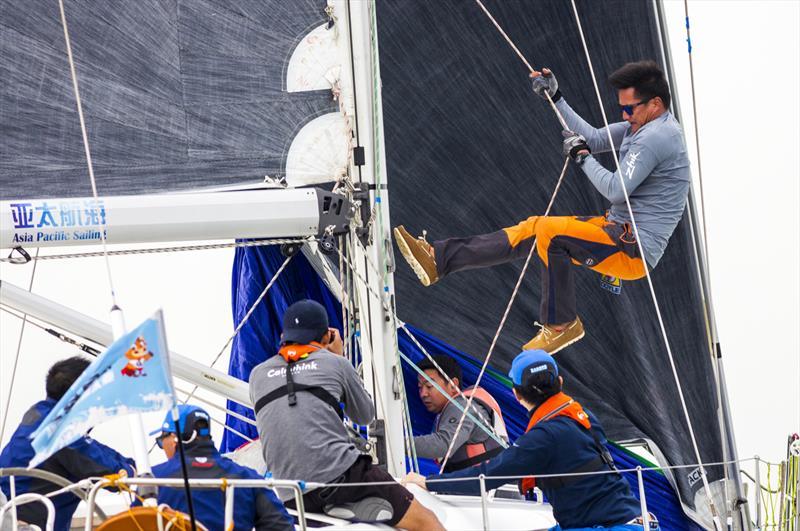High energy kite hoist. 2020 Guangdong-Hong Kong-Macao Greater Bay Area Cup Regatta & Macao Cup International Regatta. - photo © Guy Nowell