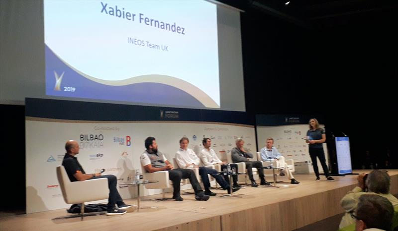 Xabier Fernandez of INEOS TEAM UK being grilled, but giving nothing away, at the Yacht Racing Forum 2019 - photo © Keith Lovett