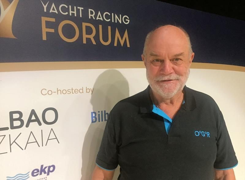 The ever enthusiastic Don McIntyre of the Ocean Globe Race at the Yacht Racing Forum 2019 - photo © Keith Lovett