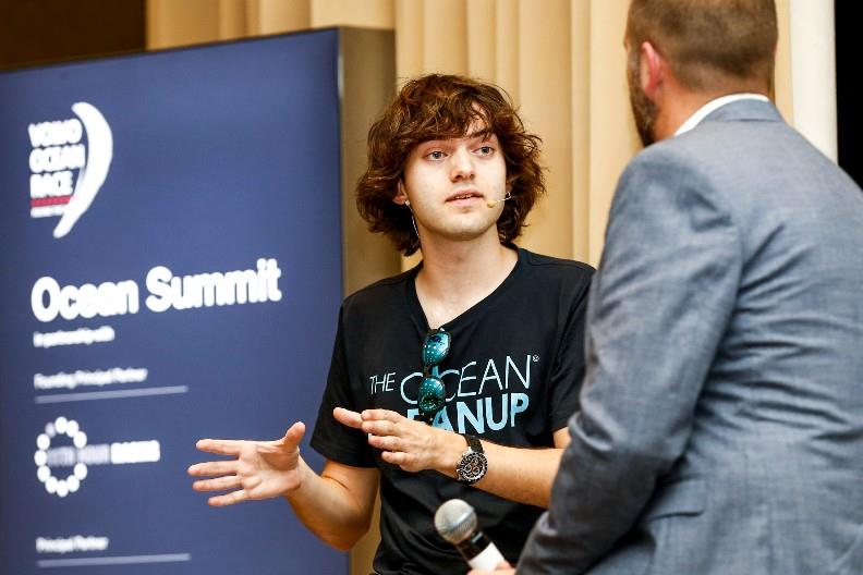 Cape Town stopover. Boyan Slat and Richard Hardiman during the Ocean Summit. 07 December, 2017. - photo © Pedro Martinez / Volvo Ocean Race