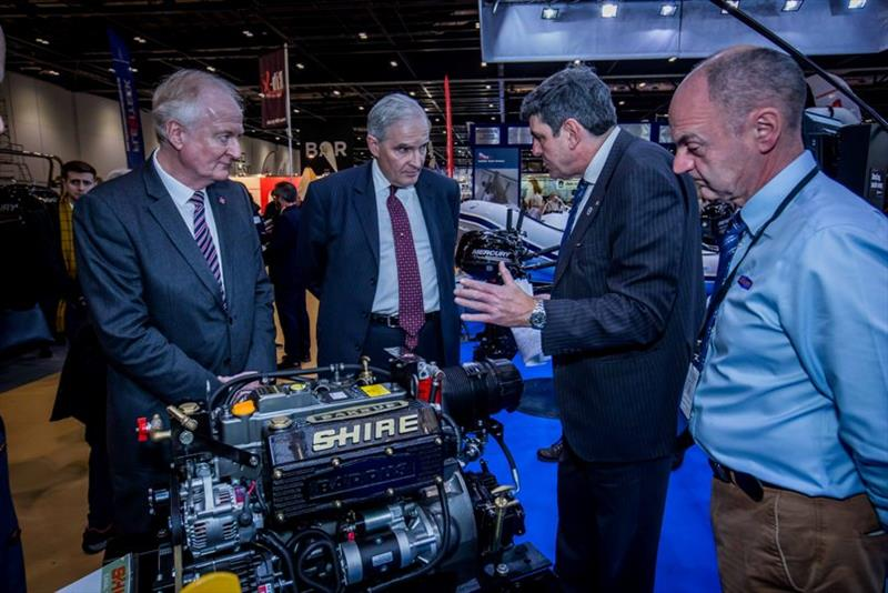 Lord Henley meets with Robert Muir at Barrus London Boat Show photo copyright British Marine taken at  and featuring the Marine Industry class