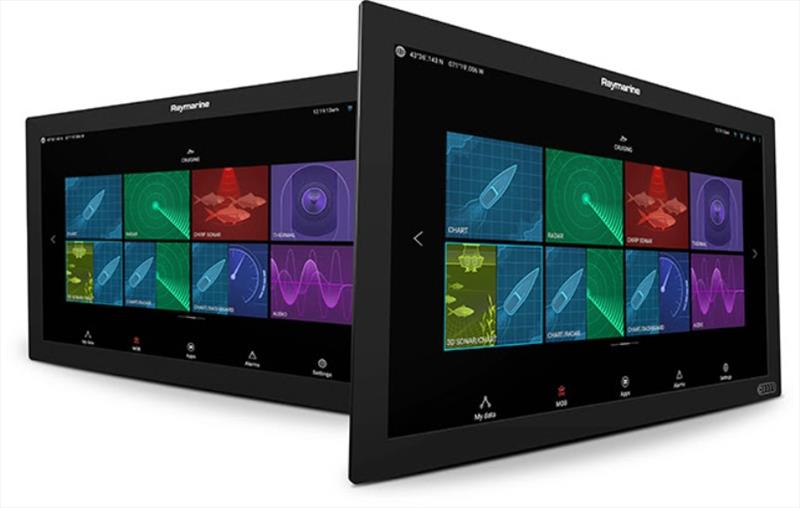 Raymarine Axiom XL multifunction displays photo copyright Raymarine taken at  and featuring the Marine Industry class
