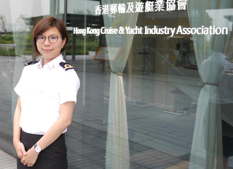 Kara Yeung, HKCYIA Executive Director. Not saying much.  - photo © HKCYIA