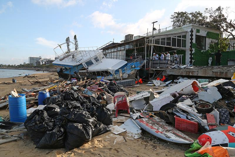 Different sorts of 'junk'. Aftermath of Typhoon Mangkhut, 16 September 2018 - photo © Guy Nowell