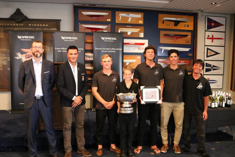 Takahashi and team collect the spoils at the 2018 Nespresso Youth International Match Racing Cup - photo © Andrew Delves