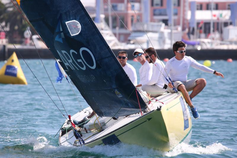 Italy's Ettore Botticini is first-time participants at the Argo Group Gold Cup who qualified for the quarterfinals photo copyright Charles Anderson / RBYC taken at Royal Bermuda Yacht Club and featuring the Match Racing class