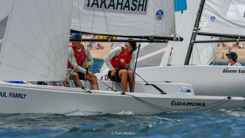 Leonard Takahashi (NZL) is tied at the top of the leader board with Harry Price (AUS) after day 1 of racing at the 52nd Annual Governor's Cup at Balboa Yacht Club - photo © Tom Walker