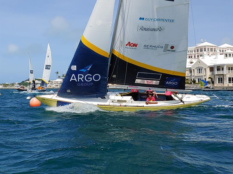 Pauline Courtois (at helm) of France is racing the Argo Group Gold Cup for the first time as the Women's World No. 1-ranked match race skipper - photo © Argo Group Gold Cup