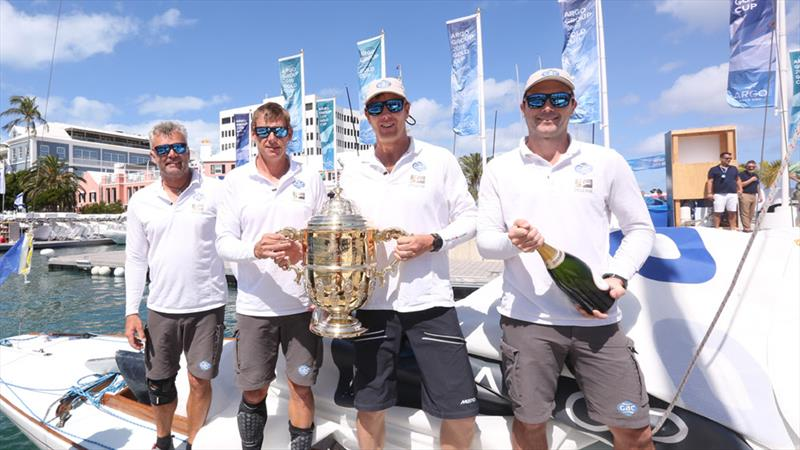The Team GAC Pindar crew (from left) Gerry Mitchell, Richard Sydenham, skipper Ian Williams and Tom Powrie, winners of the 69th Argo Group Gold Cup photo copyright Charles Anderson taken at Royal Bermuda Yacht Club and featuring the Match Racing class