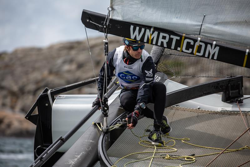 Ian Williams, GBR (GAC Pindar) on day 3 of the World Match Racing Tour Championship Final at Marstrand - photo © Patrick Malmer