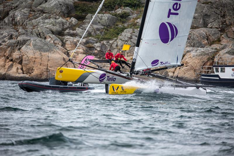 Phil Robertson, NZL (ChinaOne Ningbo) on day 3 of the World Match Racing Tour Championship Final at Marstrand - photo © Patrick Malmer