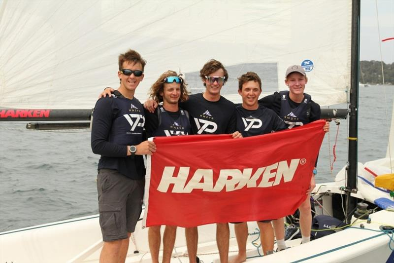The winning RNZYS team skippered by Alastair Gifford (left) - Harken Int Youth Match Regatta 2019 photo copyright RPAYC Media taken at Royal Prince Alfred Yacht Club and featuring the Match Racing class