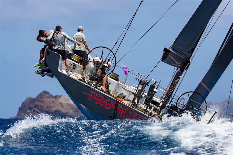 George Sakellaris' Maxi 72 Proteus on day 1 at Les Voiles de Saint Barth Richard Mille - photo © Christophe Jouany