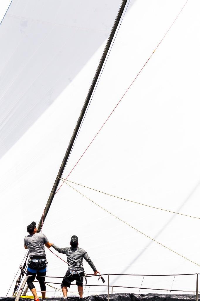 What goes up must come down. Alex Schaerer's Maxi 72 Caol Ila R - 2019 Rolex Giraglia - photo © IMA / Studio Borlenghi