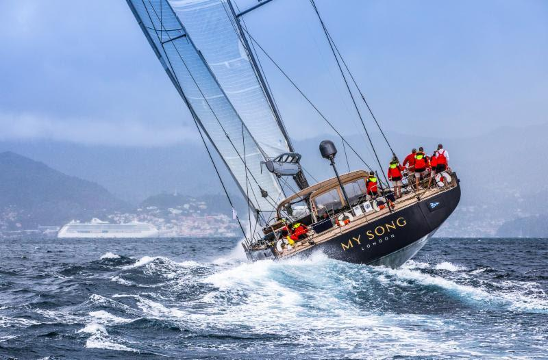 RORC Transatlantic Race Monohull Line Honours and race record for Pier Luigi Loro Piana's team on the Baltic 130 My Song - photo © RORC / Arthur Daniel