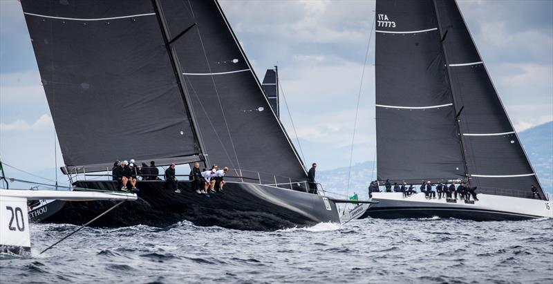 Sir Peter Ogden's elongated Jethou at Rolex Capri Sailing Week photo copyright Rachel Fallon-Langdon  taken at Yacht Club Capri and featuring the Maxi class
