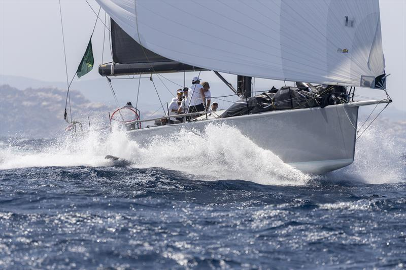 Blistering downwind DSS-fuelled pace on Márton Józsa's Reichel Pugh 66 Wild Joe on day 1 of the Maxi Yacht Rolex Cup - photo © Studio Borlenghi / International Maxi Association