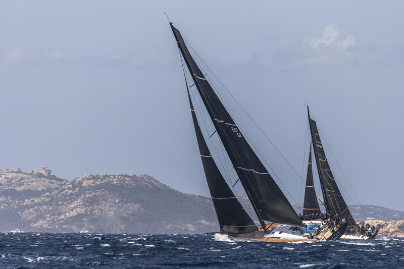 Big breeze off the Costa Smeralda for the new Mills 68 Pelotari.Project of Spain's Andres Valera and the Lithuanian VO65 Ambersail 2 on Maxi Yacht Rolex Cup day 5 photo copyright Studio Borlenghi / International Maxi Association taken at Yacht Club Costa Smeralda and featuring the Maxi class