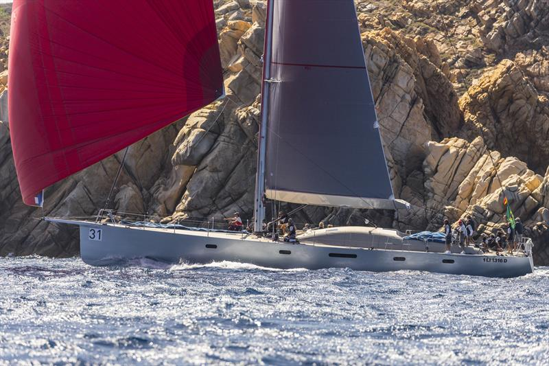 Riccardo de Michele's H20 scored her second bullet of the series on Maxi Yacht Rolex Cup day 5 photo copyright Studio Borlenghi / International Maxi Association taken at Yacht Club Costa Smeralda and featuring the Maxi class
