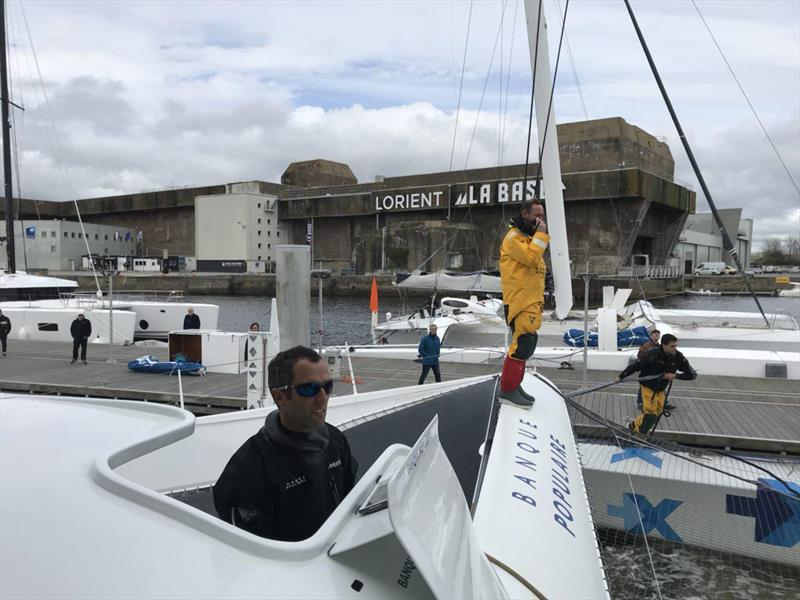 First sail - Maxi Banque Populaire IX. Skipper, Armal Le Cleac'h. - photo © Team Banque Populaire IX