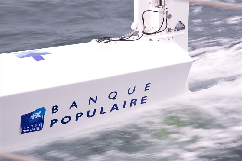Rudder foil - Banque Populaire IX - photo © Easy Ride / BPCE