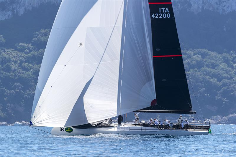 A disappointing final race but ultimately victory overall for Dario Ferrari's Pepe Cannonball - Rolex Capri Sailing Week photo copyright Gianfranco Forza taken at Yacht Club Capri and featuring the Maxi class