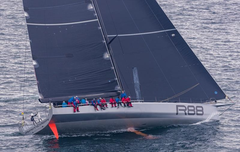 Rambler 88, a Juan K custom 88-footer, sets a huge spread of sail at the start - photo © Daniel Forster / PPL