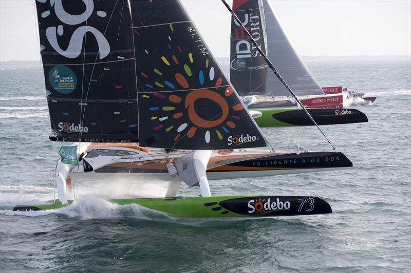 Sodebo and IDEC Sport - Start, Route du Rhum - Gouadeloupe 2018 - photo © Alexis Courcoux