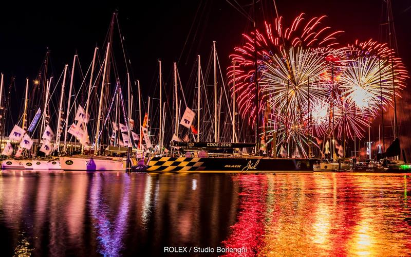 Fireworks at the finish - 2017 Rolex Sydney Hobart Yacht Race - photo © Carlo Borlenghi / Rolex