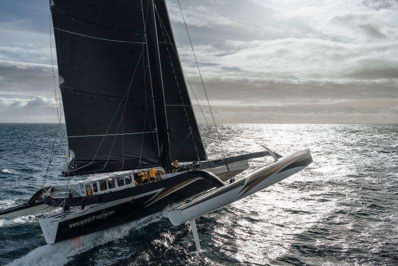Spindrift 2 challenging for the Jules Verne Trophy photo copyright Chris Schmid / Spindrift Racing taken at  and featuring the Maxi class