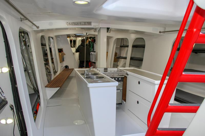 Galley looking forward - Lion New Zealand - Relaunch - March 11, 2019 photo copyright Richard Gladwell taken at Royal New Zealand Yacht Squadron and featuring the Maxi class