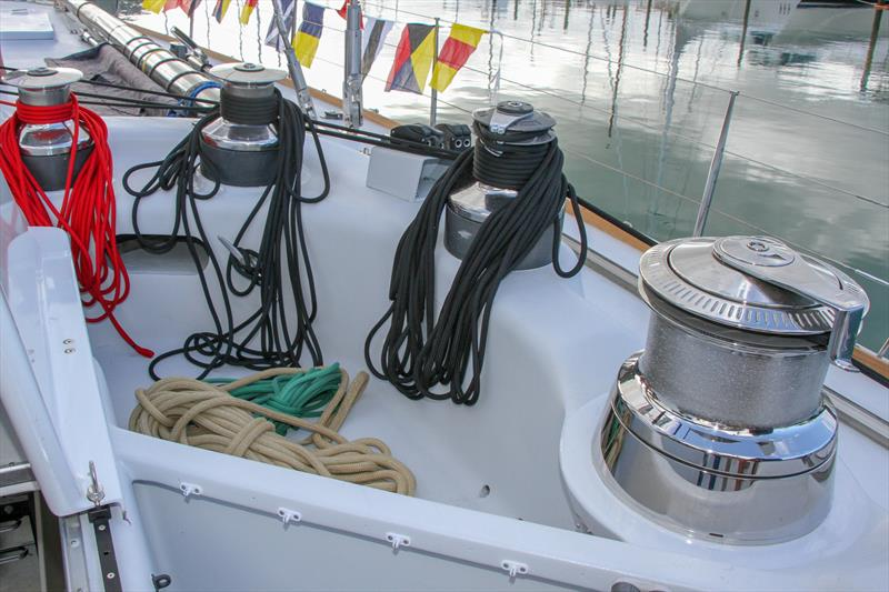 Starboard winch pit - Lion New Zealand - relaunch - March 11, 2019 photo copyright Richard Gladwell taken at Royal New Zealand Yacht Squadron and featuring the Maxi class