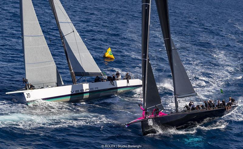 Vesper leads maxi fleet home on Rolex Capri Sailing Week's penultimate day