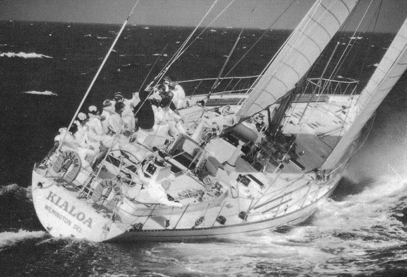 Kialoa III sailing close hauled in 20kts of breeze - photo © Eric Sckweikardt