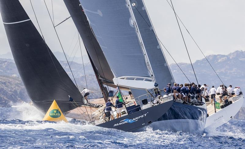 Magic Carpet Cubed, Sail n: GBR 1001 R, Nation: GBR, Owner: Sir Lindsay Owen Jones, Length: 30,50, Model: Wallycento GALATEIA, Sail n: CAY1002, Nation: CI, Owner: Switchback Marine, Length: 30,45, Model: Wally cento - photo © Luca Butto