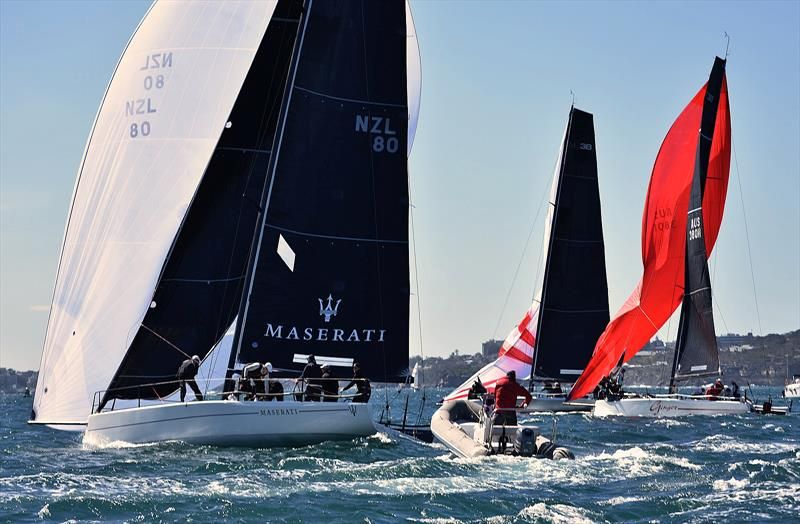 Downwind action at the MC38 Winter Regatta Act 4 on Sydney Harbour - photo © David Staley / MHYC
