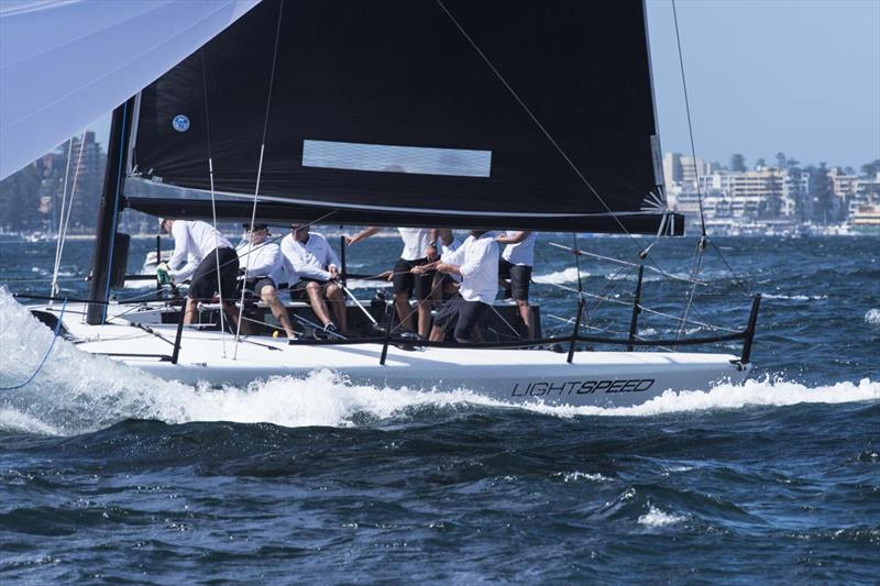 Stephen Barlow's Lightspeed in fast mode at the 40th Sydney Short Ocean Racing Championship - photo © Margaret Fraser-Martin