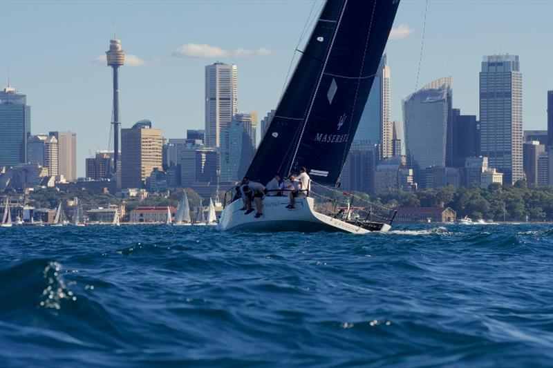 Neville Crichton's Maserati takes out Act 2 - 2019 MC38 Season photo copyright Tilly Lock Media taken at Royal Sydney Yacht Squadron and featuring the MC38 class