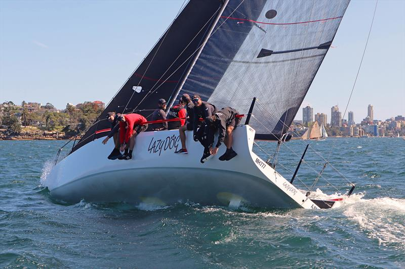 Shaun Lane and Quentin Stewart's Lazy Dog winner MC38 2019 Season Act 5 photo copyright Lisa Ratcliff OCC taken at Royal Sydney Yacht Squadron and featuring the MC38 class