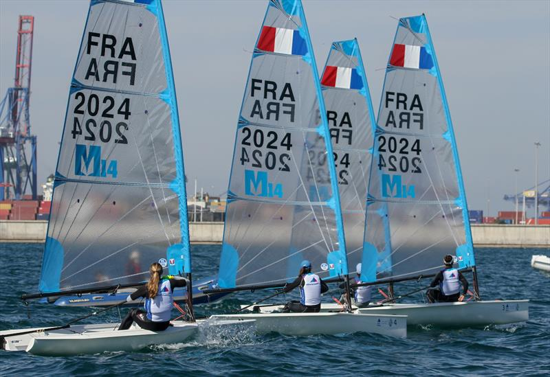 Melges 14 - Equipment selection Sea-trials - 2024 Olympic Sailing Competition  - Men's and Women's One Person Dinghy Events. - photo © Daniel Smith - World Sailing