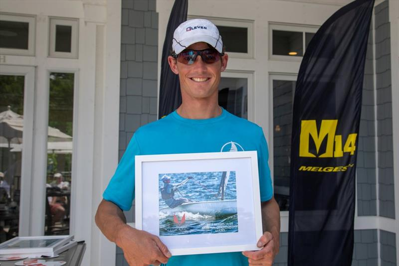 Erik Bowers · First Place - Day 3 - 2019 Melges 14 U.S. National Championship - photo © Hannah Noll
