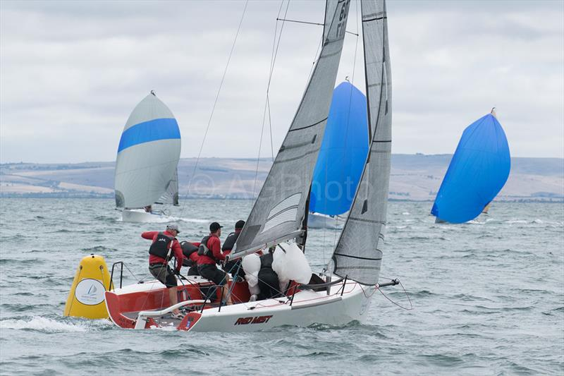 Robbie Deussen's Red Mist was second overall after a great last day - 2018 Musto Melges 24 Nationals - photo © Ally Graham